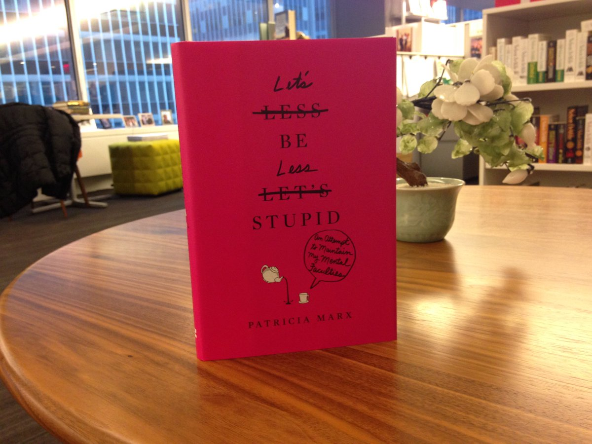 #12DaysOfGiveaways Day 6: RT to win LET'S BE LESS STUPID by @NewYorker humorist & former SNL writer Patty Marx! https://t.co/CKACKSMYg0