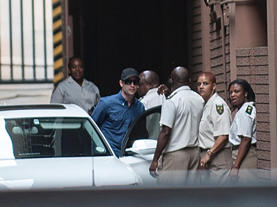 Rare public sighting of Oscar Pistorius after judge sets bail for convicted killer at $692