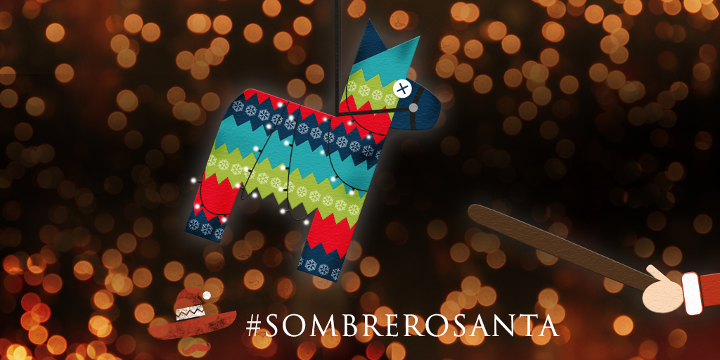 We're giving away lots of chiqui Xmas prezzies! Just RT to swing at our festive piñata & win a prize! #SombreroSanta https://t.co/YPNLAPmVoW