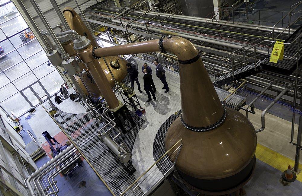 A first look inside the new @waterforddram distillery in #Ireland. First spirit still run in the morning! https://t.co/6HeHR4xABu