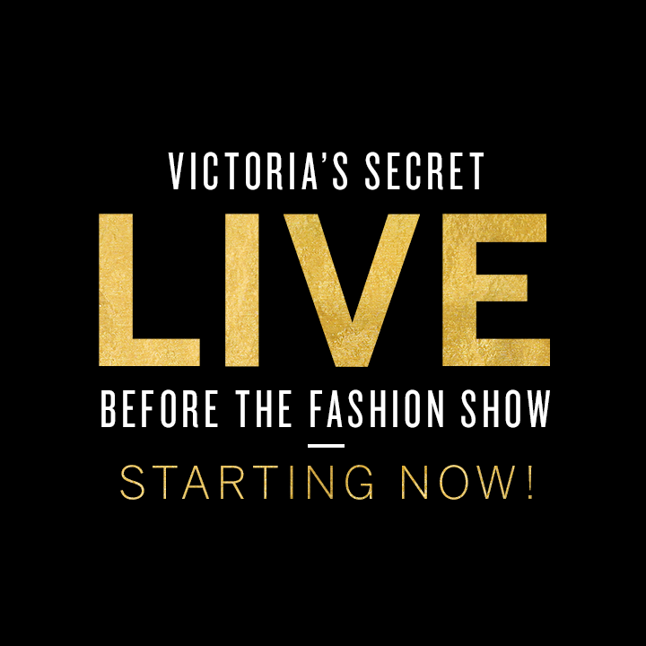 STARTING NOW: join the Angels & special guests for the LIVE #VSFashionShow pre-show: https://t.co/VPvnRk53iS https://t.co/ld79iBHxmI