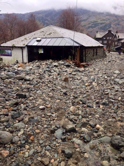 Glenridding LDNP Visitors Centre wiped out -example raw physical Geog @BlencathraFSC https://t.co/BF3JwMvFNP