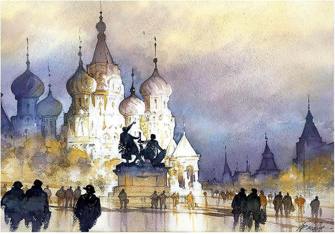 RT @twschaller: Skyline #Redsquare #Moscow #Russia #urban #art #architecture #sketch # ...