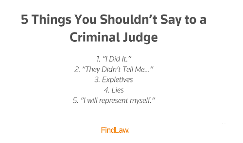 5 Things You Shouldn't Say to a Criminal Judge - https://t.co/c8YhHDh7lZ https://t.co/0aqCTREWW4