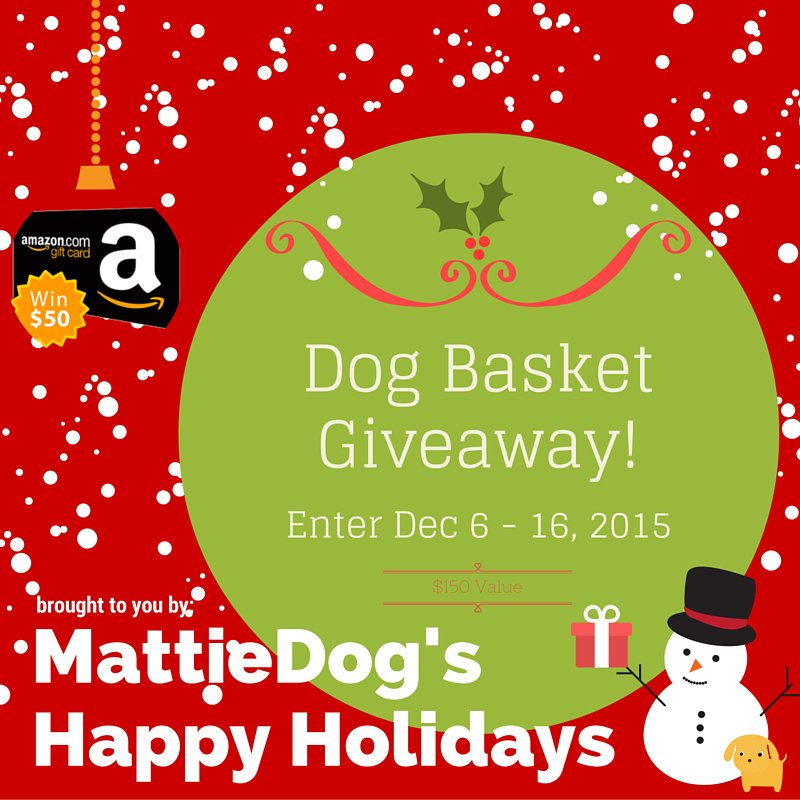 Enter MattieDog's Holiday #Giveaway 4UR chance 2 win $150 worth of #dog goodies! https://t.co/DweVWaR7oD RT! https://t.co/4oyWK2xhjJ