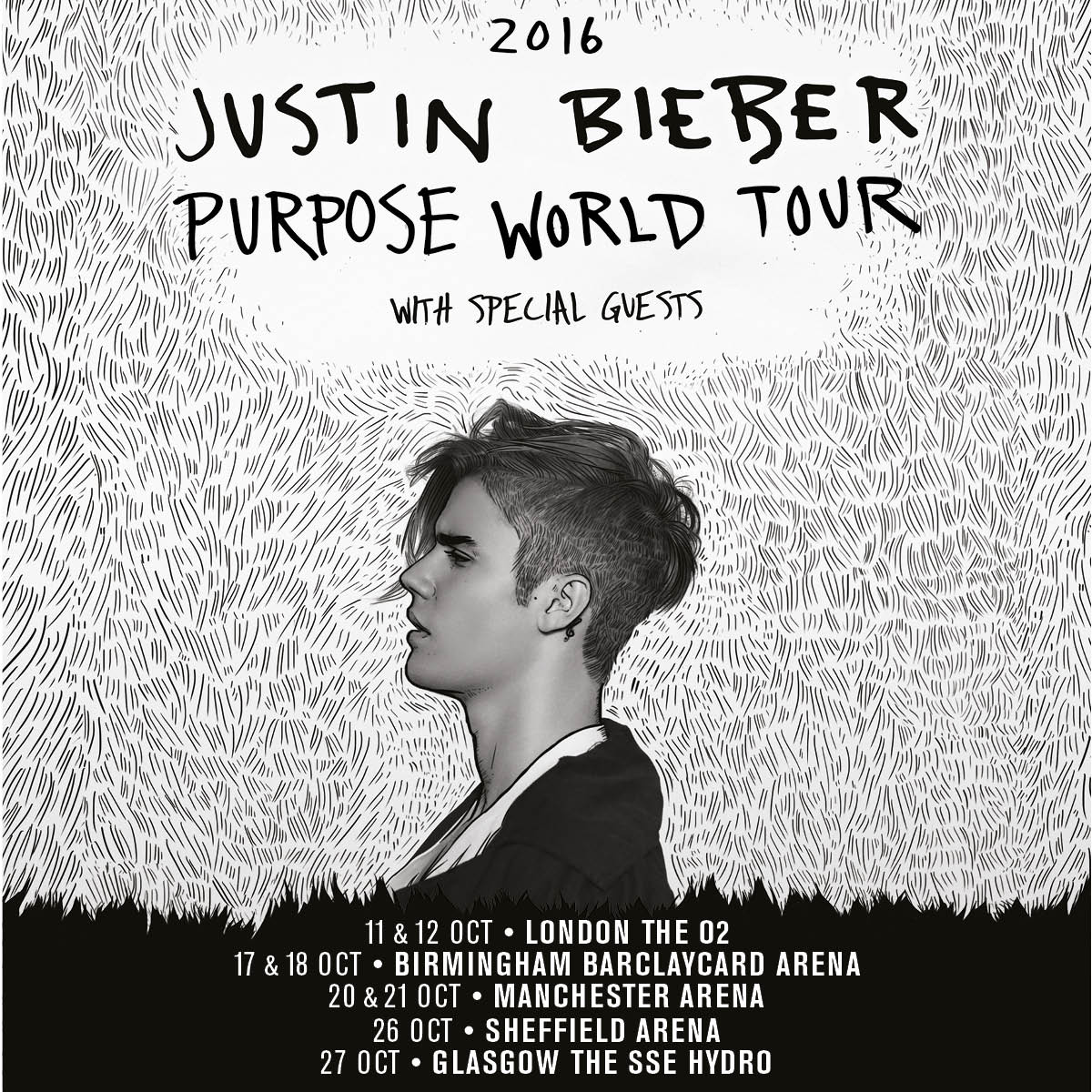 ANNOUNCEMENT: @justinbieber brings his #PurposeWorldTour to the UK - Oct 2016. Tickets on sale 9am Thurs 17 Dec! https://t.co/uocJEmShG9