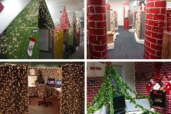 pictures the most brilliantly over the top office christmas decorations httpst - Office Christmas Decorations