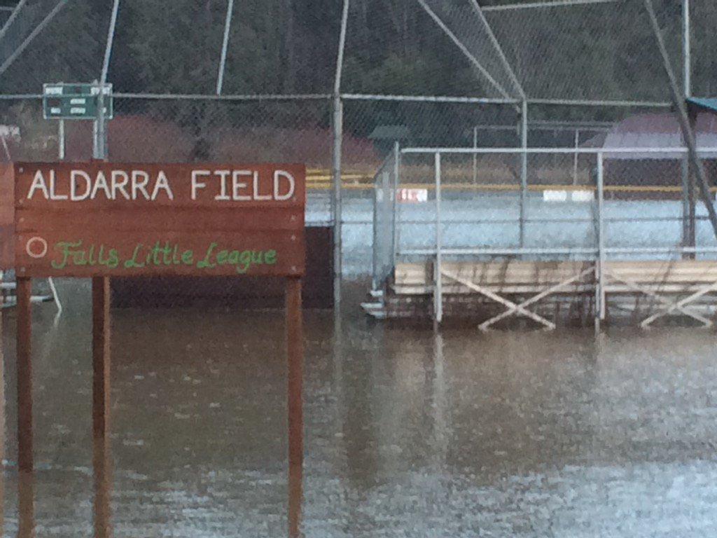 Photo A Little League Baseball Field Under Floodwaters