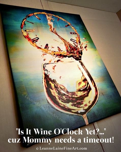 My art Is It #Wine O'Clock Yet to be shipped to a client #WineWednesday #Christmas https://t.co/yCZriq6uMX https://t.co/YK4mp8Cotn
