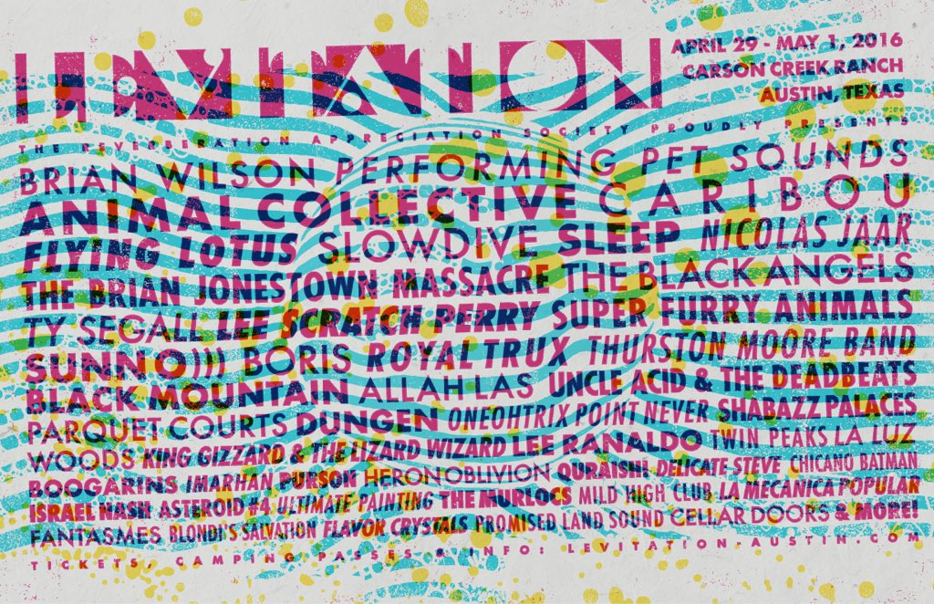 We're excited to announce the full 2016 @LEVITATION lineup! 4/29-5/1 in Austin, TX. ✨