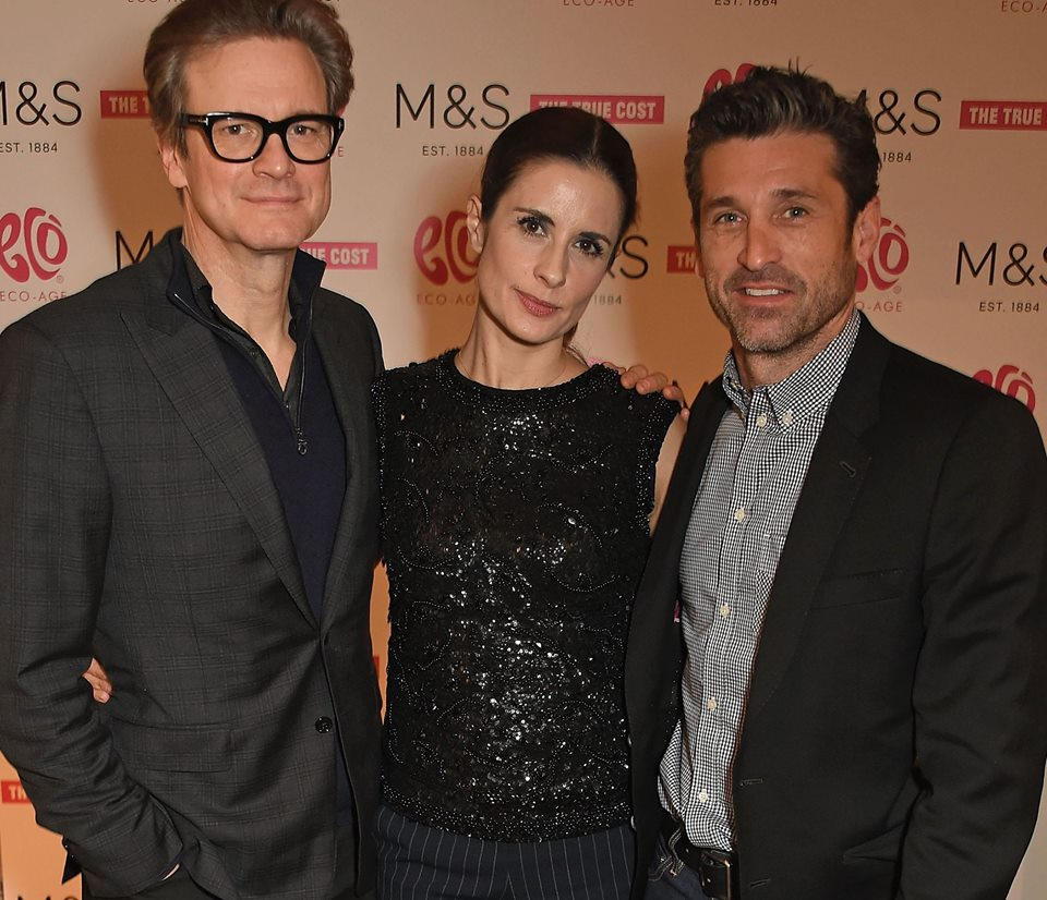 #ColinFirth, @liviafirth and @patrickdempsey last night at our screening of the @truecostmovie in #London https://t.co/5TJ7kJIKtd