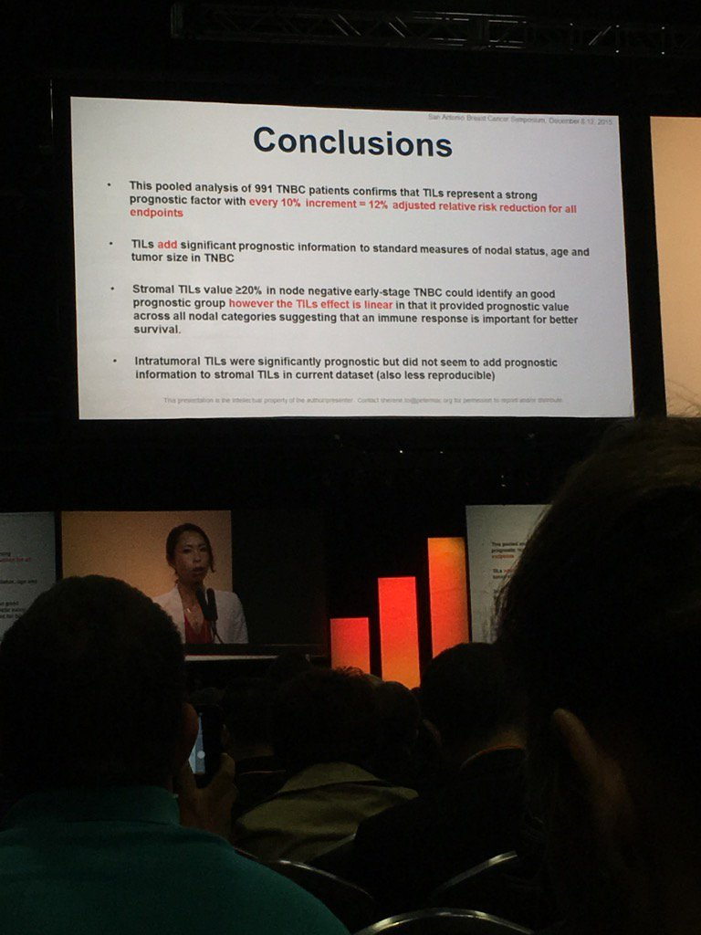 Conclusions slide for TILs study. Lot of work! #SABCS15 https://t.co/AI6seUBwfR