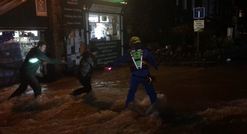 Cumbria Fire/Rescue on scene in Glenridding. River burst its banks again. Locals say 'worse than the weekend' @GMB https://t.co/tn3xL4I2FM