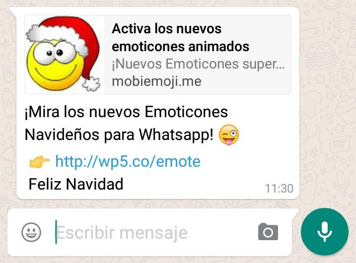 No #whatsapp no ha sacado emoticonos nuevos, es que los ciberdelincuentes no descansan en #Navidad https://t.co/3tPrP3wj5O