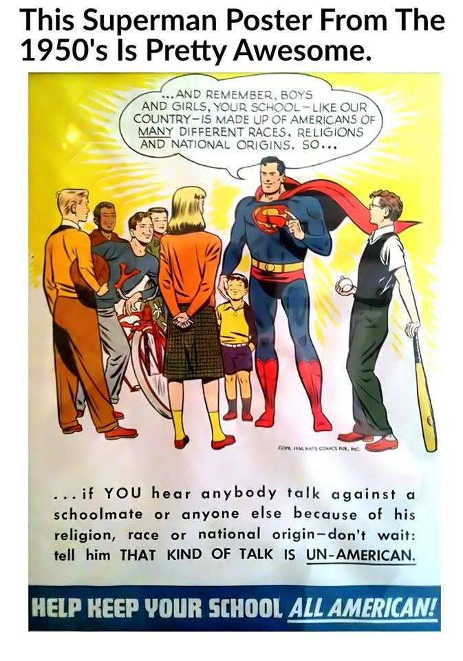 #bullying is unAmerican.  Ask Superman, https://t.co/id07PntkZR
