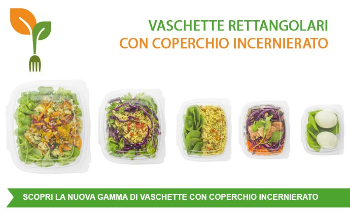 Scopri le nuove #vaschette rettangolari con coperchio incernierato. 100% #compostabili => https://t.co/mm3WHx2yFx https://t.co/Ola4kmgyW3