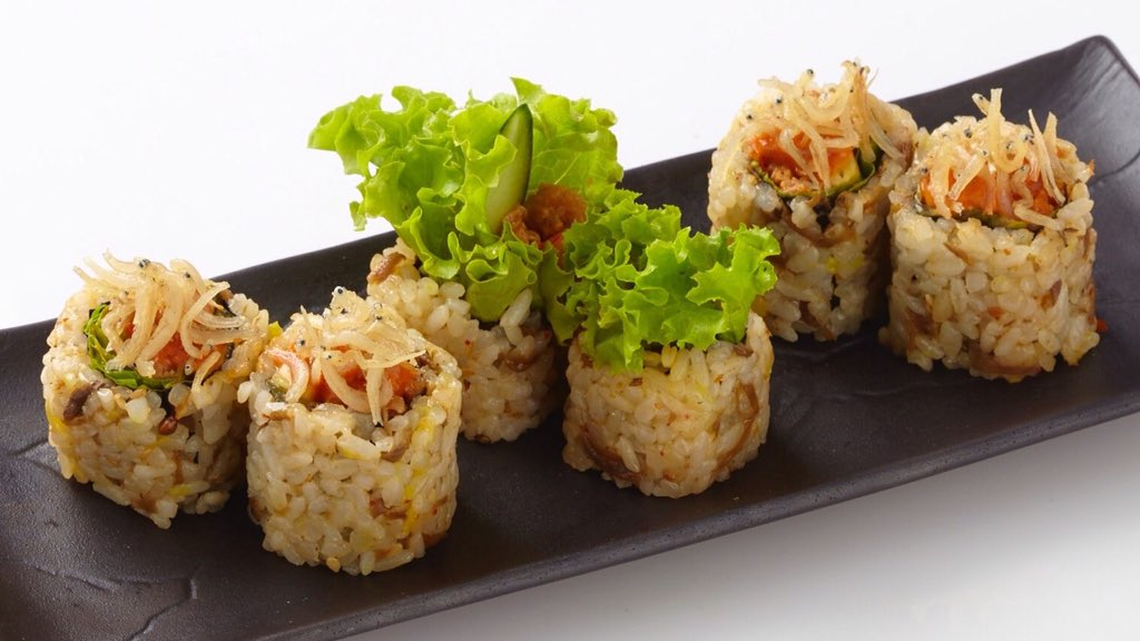 Yes, we've granted your wish for #sushi made with #sambal bajak and #ikan #teri in this new NIKU JAKO ROLL!