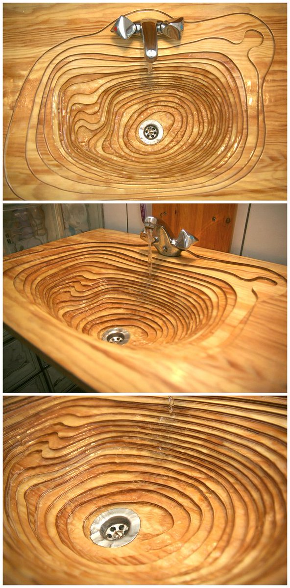 If you enjoy woodworking, consider the potential of this topographically inspired bathroom s https://t.co/CaFbM21b37 https://t.co/mYYQH8dZnD