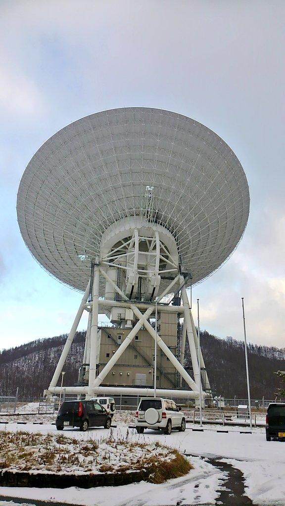 日本最大のパラボラアンテナで、直径64mもある、うすださん。今日も「あかつき」とお話してたよ。GEOTAILともお話したよ。 https://t.co/x97KXaUhyC
