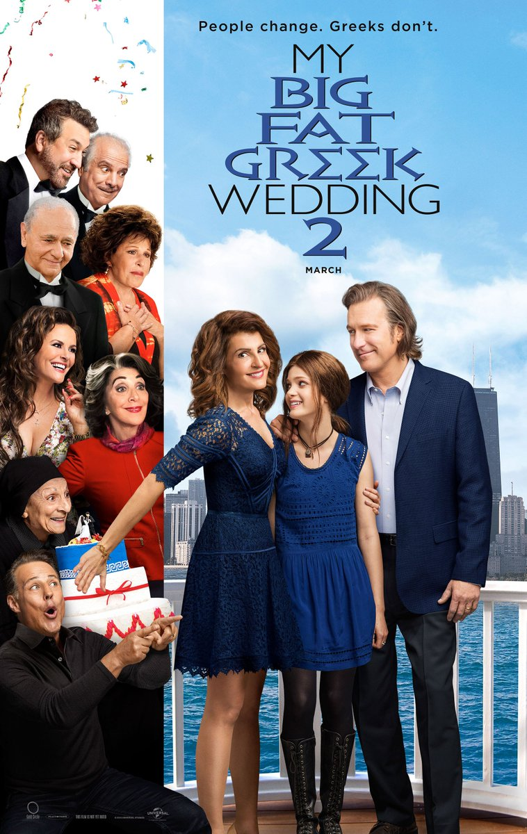The #MyBigFatGreekWedding2 poster! Guess who's back for the sequel. Hint...EVERYONE: https://t.co/j0B8vrICDw
