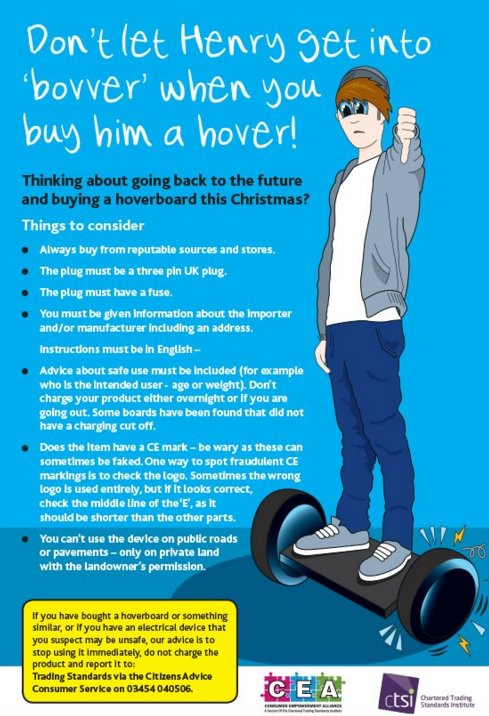 Thinking of buying a hoverboard for someone this Christmas? Consider this safety advice before you do #hoversafe https://t.co/bHRkj5ttsS