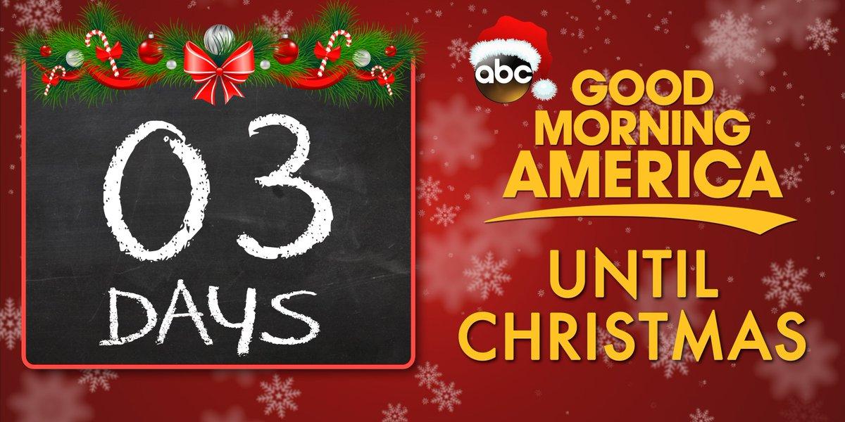 THREE. MORE. DAYS. UNTIL. CHRISTMAS.