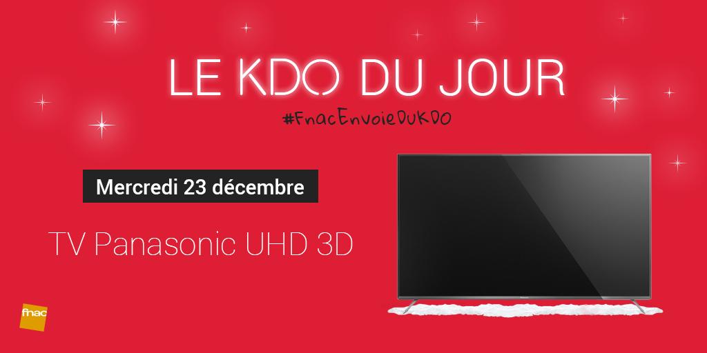 [23/12] RT+tweete avec #FnacEnvoieDuKDO pour tenter de gagner cette TV Panasonic UHD 3D ! https://t.co/QWoAXh0Oyw https://t.co/IfiWc6vZWd