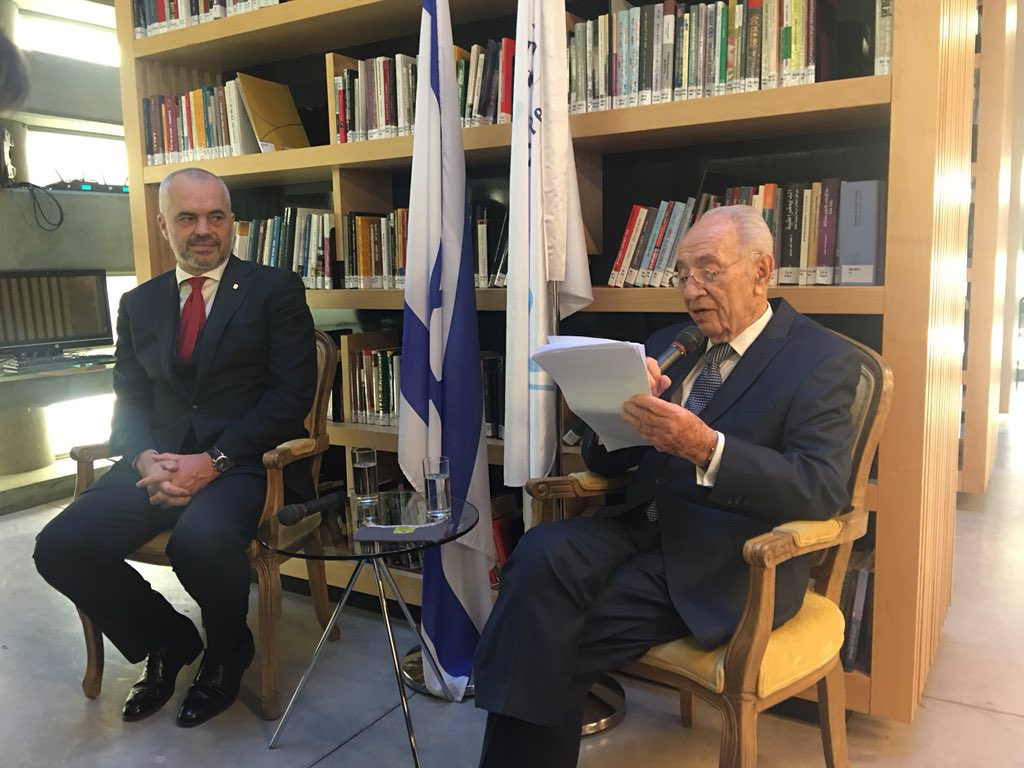 .@PresidentPeres What a wise man w/ great knowledge on Albania's culture, religious harmony and political landscape. https://t.co/ZBSvUyjAPg