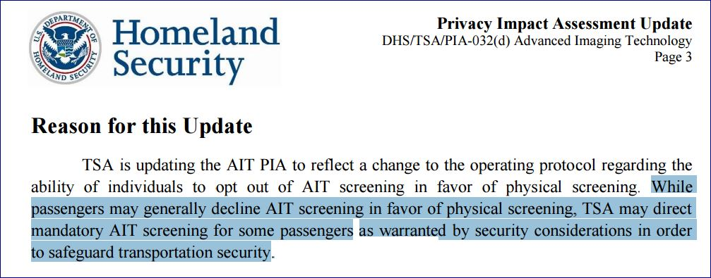 """Yes, the @TSA is taking away your ability to """"opt out"""" of the body scanners. #PaxEx https://t.co/hlkdwtnmPd https://t.co/AVrOZdQtQ9"""