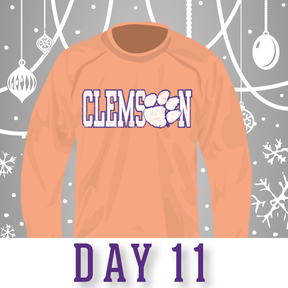Today's #12DaysOfChristmas giveaway: Clemson #ComfortColors Crewneck! RT for your chance to win! #ClemsonChristmas https://t.co/3J5xlmrI27