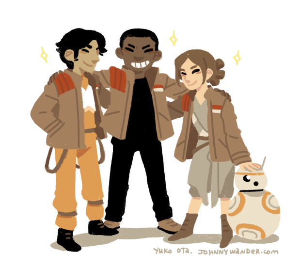 Friendhood of the Traveling Jacket #TheForceAwakens https://t.co/5ypxlqmJbZ