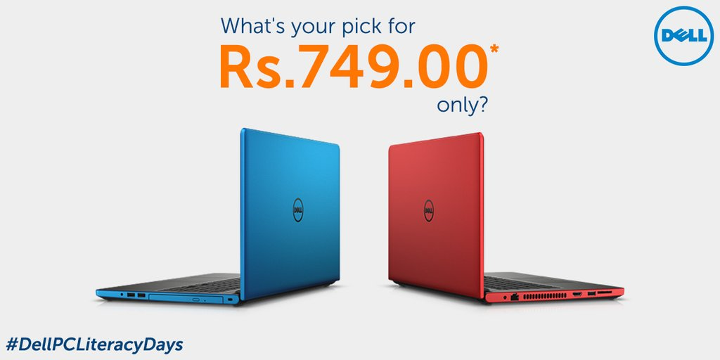 Blue or Red? What's your pic for just Rs. 749? #DellPCLiteracyDays https://t.co/NNusZ2Ie5t https://t.co/tEPJ23lxbf