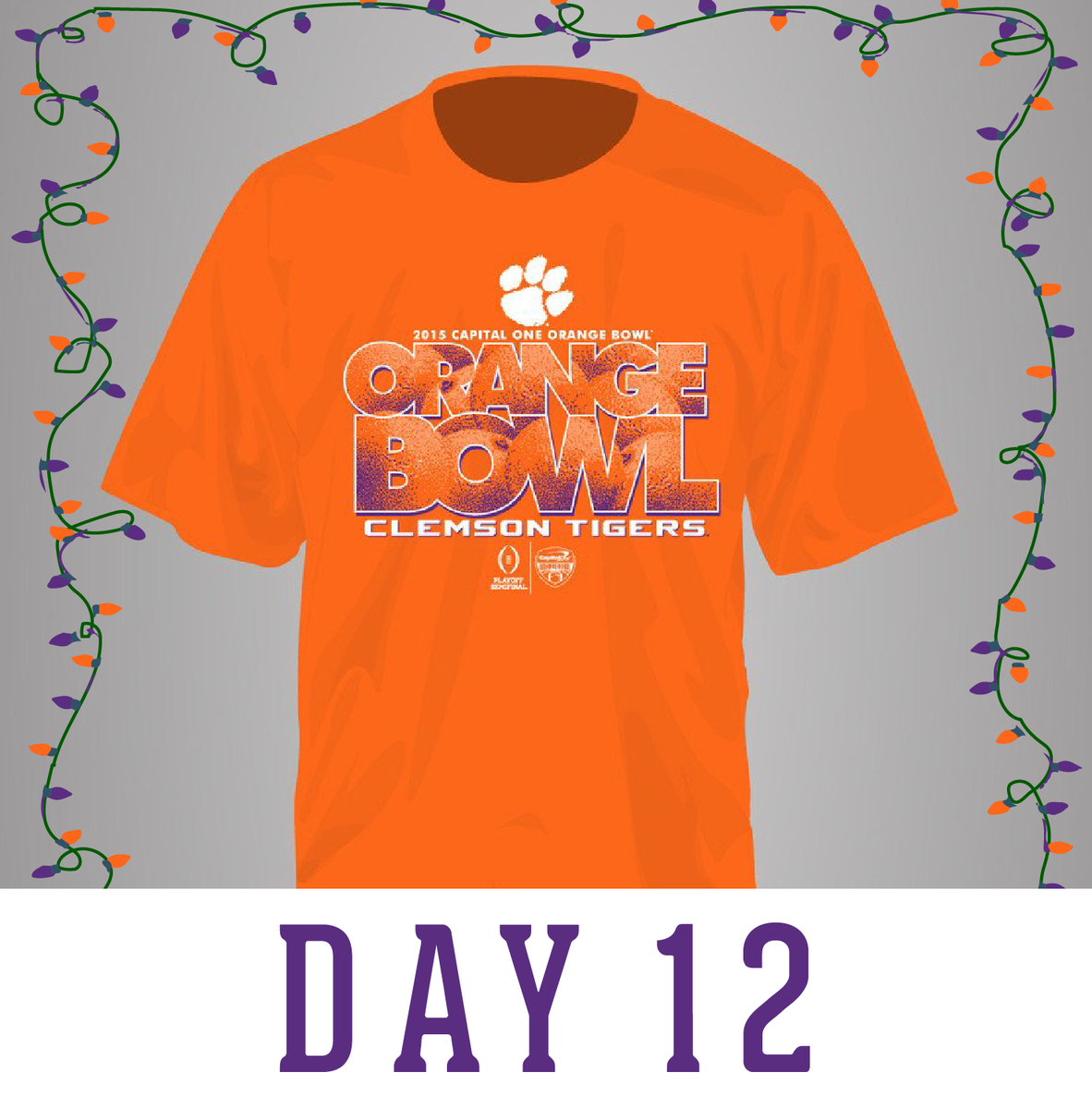 Our final #12DaysOfChristmas giveaway! RT for your chance to win it. #OrangeBowl #CFPlayoff #ALLIN #ClemsonChristmas https://t.co/bTs4jVfJTJ