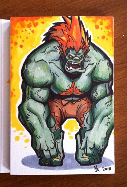Giveaway time! Retweet and like this post for a chance to win this Blanka sketch!  https://t.co/Yg2cChmnAD https://t.co/ZSQk3x6OqQ