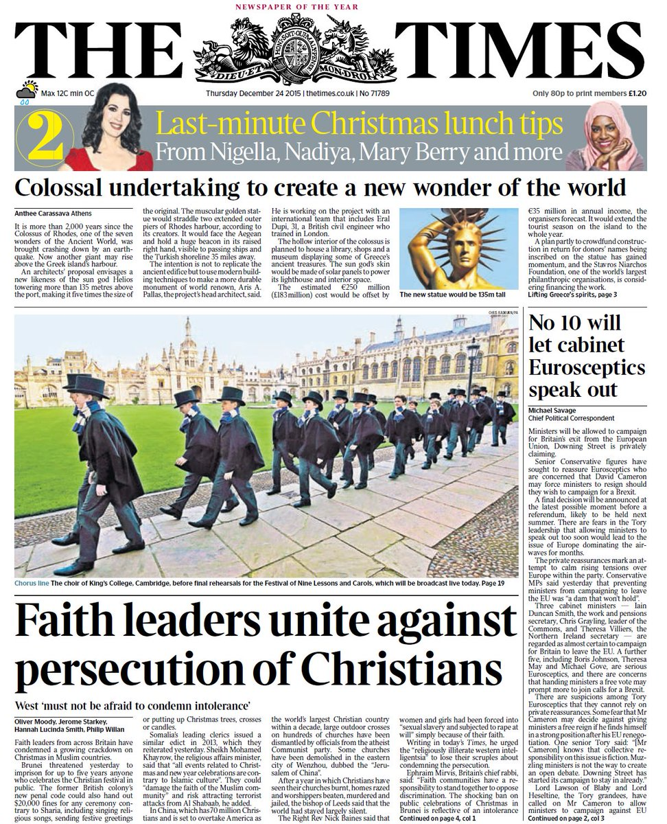 Meghan Mccain Faith: Thursday's Times Front Page: Faith Leaders Unite Against