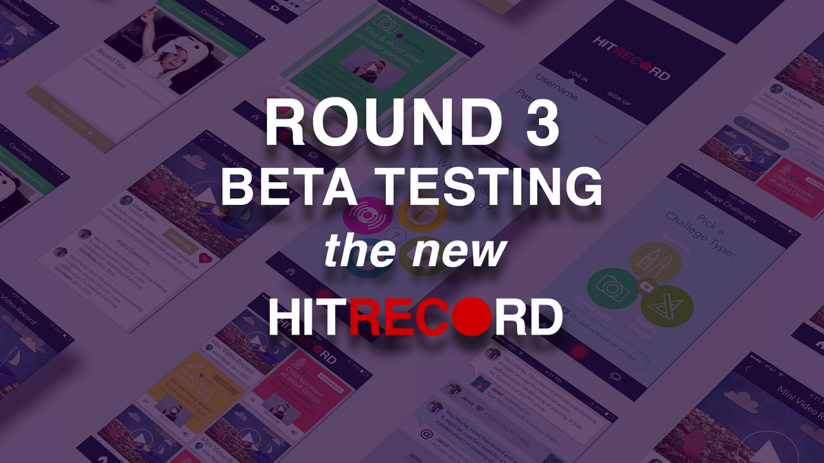 RT @hitRECord: ANYONE & EVERYONE -- come check out our new Beta site & let us know what you think! Info: https://t.co/A6TohJdMTq https://t.…