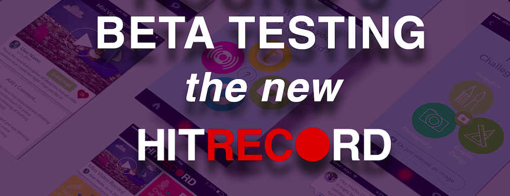 RT @hitRECord: Old, New & Non-Members of hitRECord! You're all invited to come test out our new site -- https://t.co/UWiHjPQoHx https://t.c…