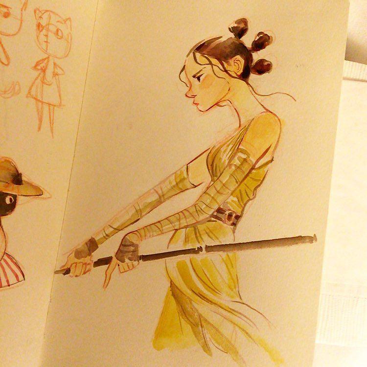 Sketch of Rey #starwars https://t.co/iHVOYEYv4S https://t.co/SzRjZCqApr