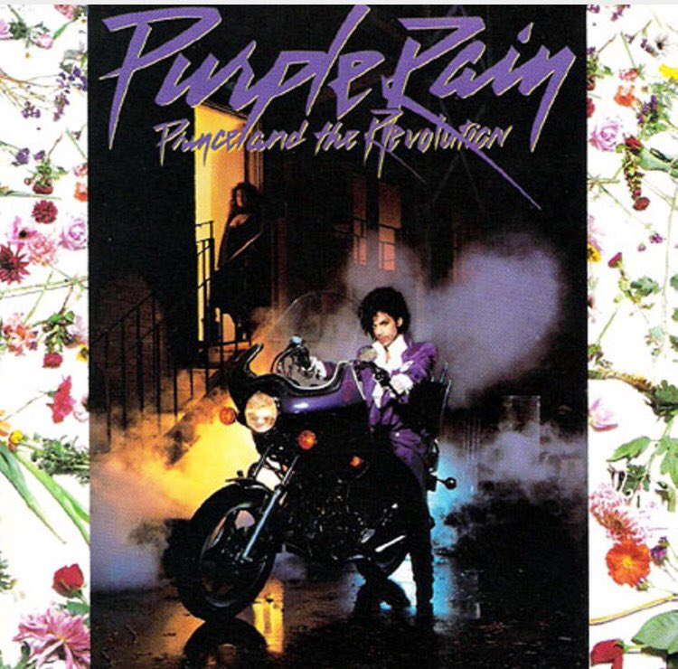 #BestBlackAlbumCovers - This #Prince album cover is another #music artist icon. #PurpleRain ☔️