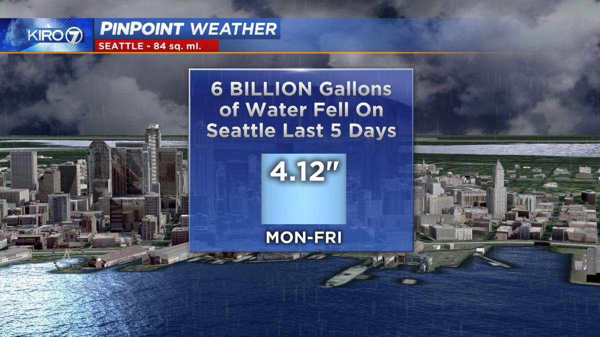 An incredible amount of rain has fallen on #Seattle this week. #wawx https://t.co/En5cpty9Fv