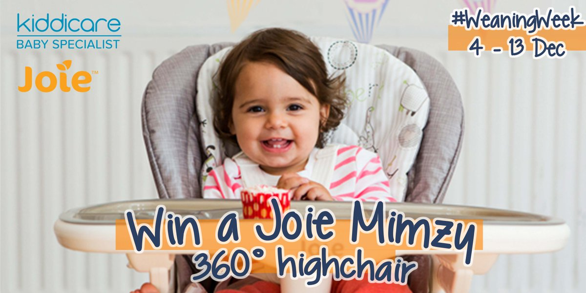 #Competition time: #Win a @Joie_Baby Mimzy 360 Highchair, worth £150! - RT + follow to enter https://t.co/y2a0GMVNri https://t.co/MOuLKsJUpT