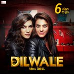 RT @RedChilliesEnt: With just 6 days to go, the excitement is at an all time high for #Dilwale! https://t.co/dyva1sOYOy