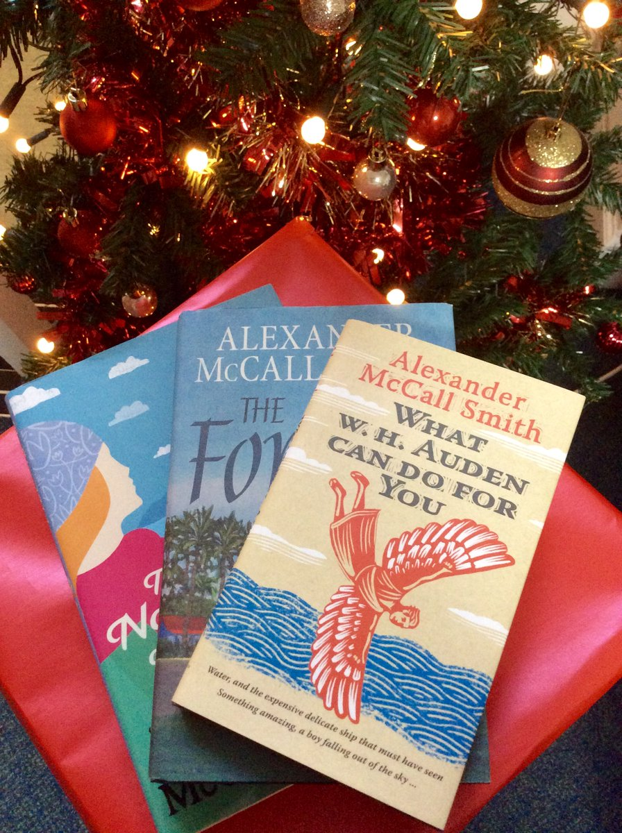 Last day of our 12 Books of Christmas comp! Flw & RT before 5pm to win 3 superb Alexander McCall Smith books https://t.co/AB2D9nS6Im