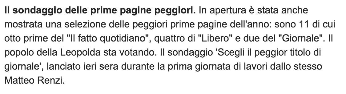 Immaginate che sarebbe successo se l'avessero fatto Berlusconi, Salvini o Grillo? #Leopolda6 https://t.co/tAuoKkrq3X https://t.co/AOdB1SuxCM