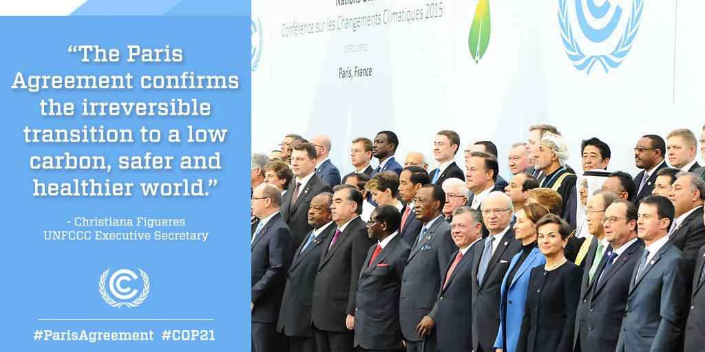 195 nations have risen to the challenge of climate change: https://t.co/6tNstOhtWD #ParisAgreement #COP21 https://t.co/6OGNtFvJt1