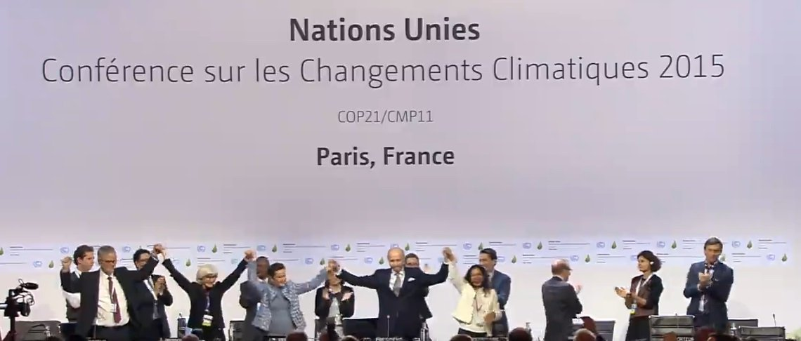 RT @sierraclub: BREAKING: The #ParisAgreement has been ACCEPTED at #COP21. https://t.co/2x0Iy4vxW5 https://t.co/u8TsY4ARXI
