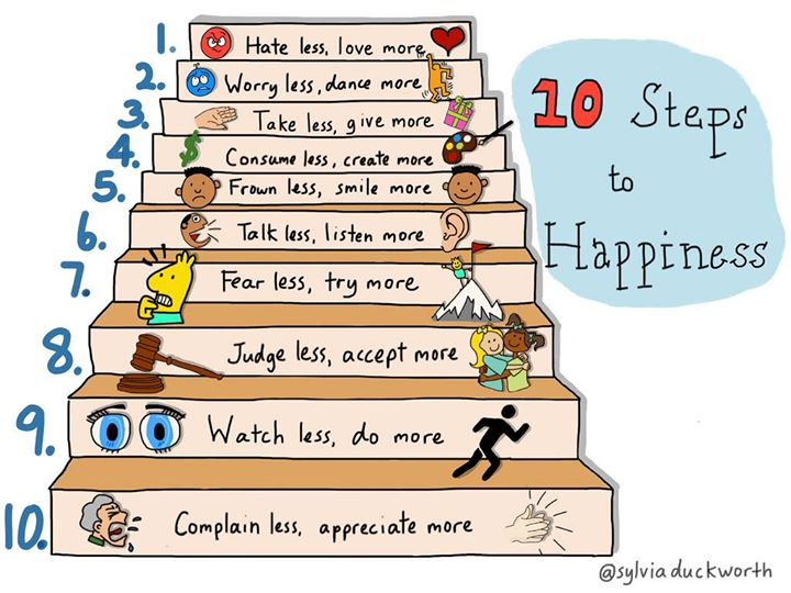 10 steps to #happiness https://t.co/u6RS0ahywL