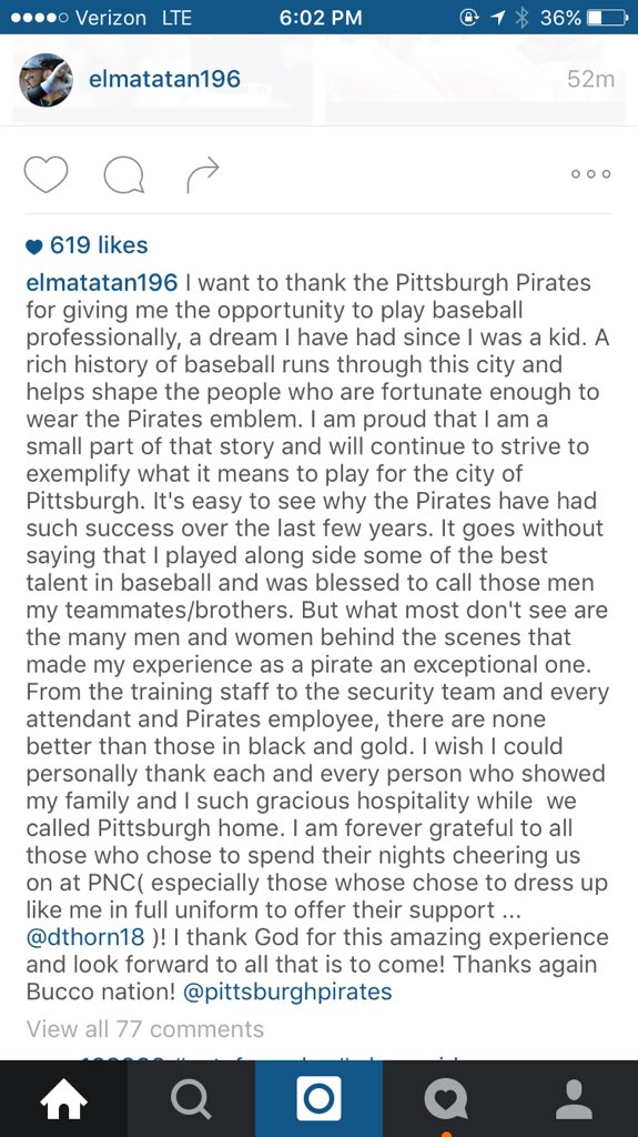 Pedro Alvarez on Instagram https://t.co/n71lRYvDE1