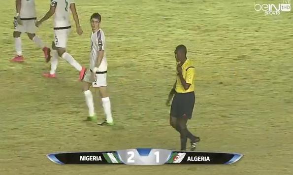 نهاية الشوط الأول بتفوق #نيجيريا بهدفين مقابل هدف وحيد. #AFCON_U23 https://t.co/LmviAuHT7w