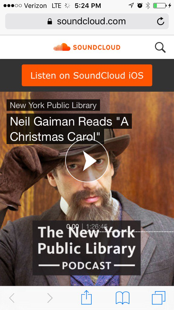 One of my favorite modern authors @neilhimself reads A Christmas Carol > https://t.co/hI8PWNNPMq https://t.co/vGYyvQGzYH